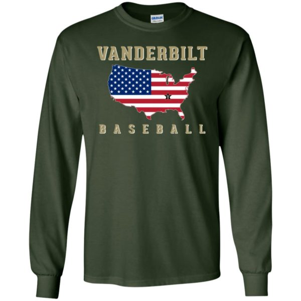 Vanderbilt Baseball Usa Map Flag