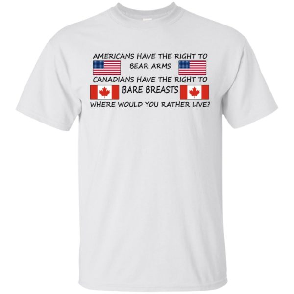Americans Have Te Right To Bear Arms Canadians Have The Right To Bare Breasts