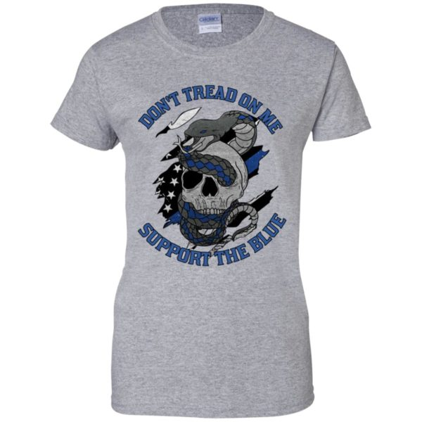 Nine Line Head Skull And Snake Don't Tread On Me Support The Blue