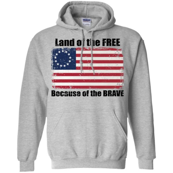 Land Of The Free Because Of The Brave Betsy Ross Flag