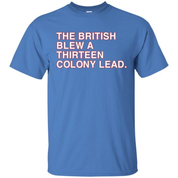 The British Blew A Thirteen Colony Lead